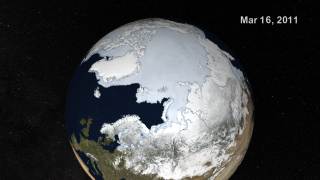 Link to Recent Story entitled: AMSR-E Arctic Sea Ice: September 2010 to March 2011