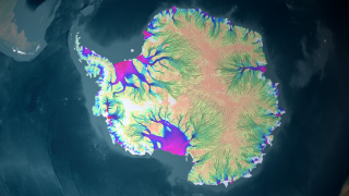 Link to Recent Story entitled: Antarctic Ice Flow Charted From Space