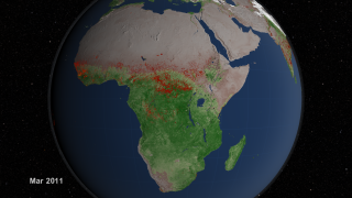 Link to Recent Story entitled: African Fire Observations and MODIS NDVI