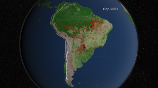 Link to Recent Story entitled: South American Fire Observations and MODIS NDVI