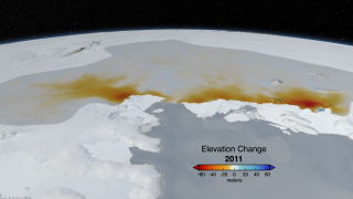 Link to Recent Story entitled: West Antarctic Glacier Ice Flows and Elevation Change