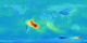 The streak of red, orange, and yellow across South America, Africa, and the Atlantic Ocean in this image points to high levels of carbon monoxide on September 30, 2005.  This  product is available through our Web Map Service .
