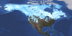 Snow Cover Map of North America with US statelines on March 5, 2012.
