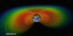 A cross-section view of the Earth's radiation belts.