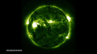 Link to Related Story entitled: The Active Sun from SDO: 94 Ångstroms