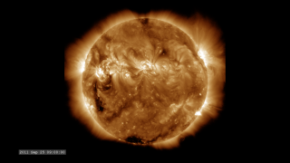 Link to Recent Story entitled: The Active Sun from SDO: 193 Ångstroms