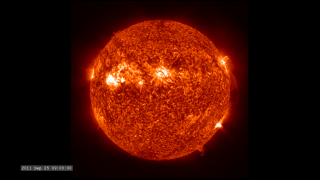 Link to Recent Story entitled: The Active Sun from SDO: 304 Ångstroms