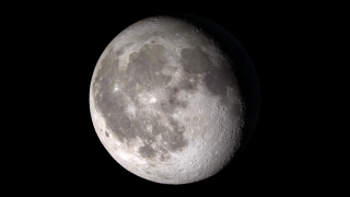 The phase and libration of the Moon for 2013, at hourly intervals. The full-resolution frames include an alpha channel.