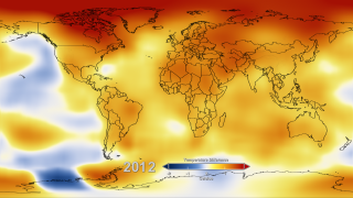 Link to Recent Story entitled: Five-Year Global Temperature Anomalies from 1880 to 2012