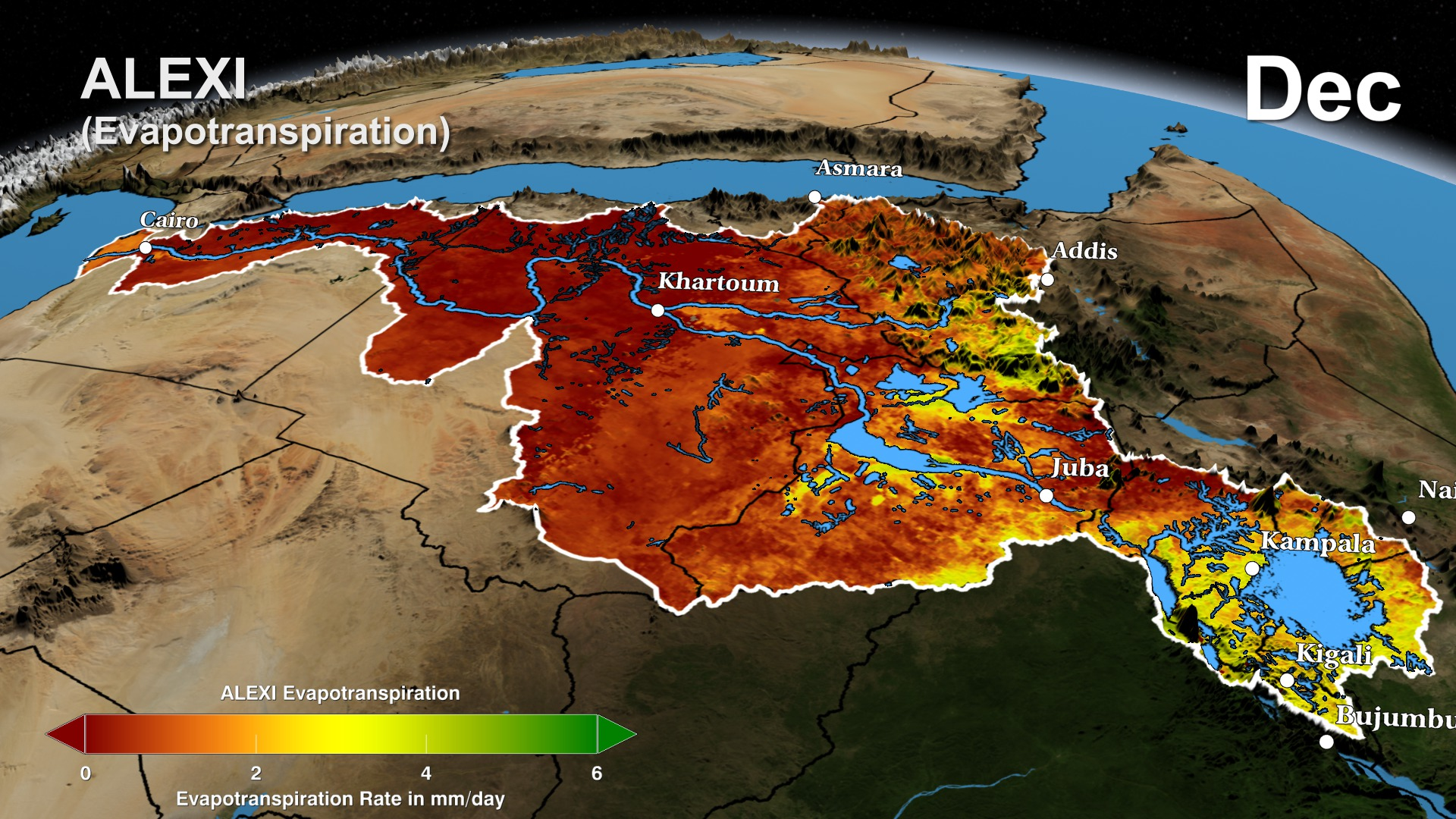 SVS The Distributed Water Balance of the Nile Basin