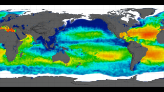 Link to Recent Story entitled: Aquarius Sea Surface Salinity Flat Maps 2012