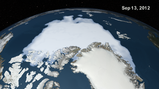 Link to Recent Story entitled: Arctic Daily Sea Ice Concentration from March 2012 to February 2013