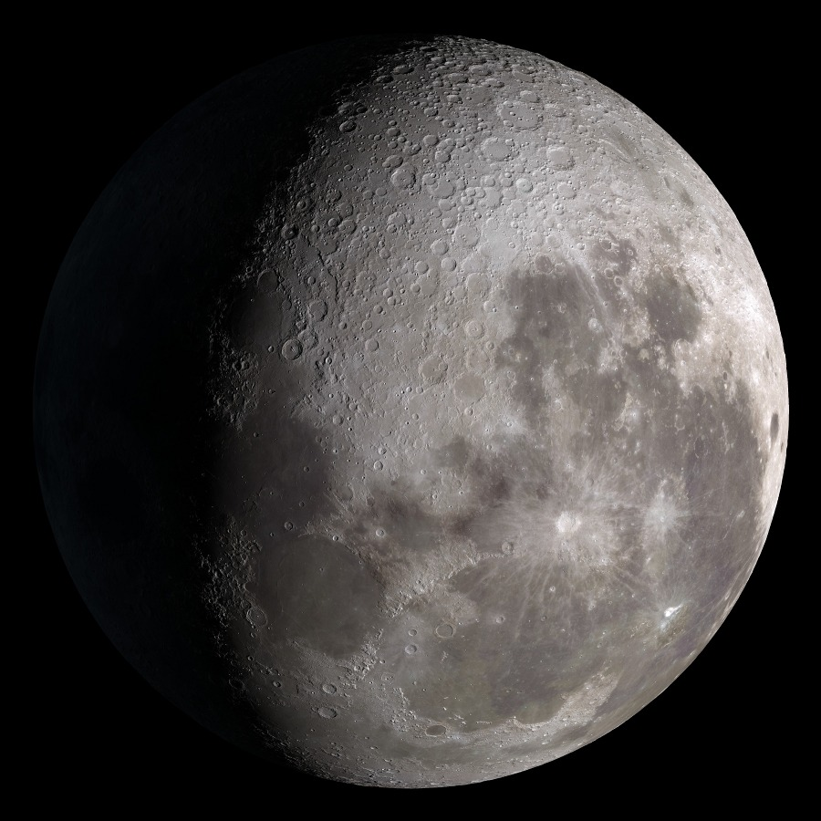 SVS: Moon Phase and Libration, 2014 South Up Waning Gibbous Moon Phase