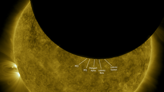 Link to Related Story entitled: Lunar Transit from Solar Dynamics Observatory (2010)