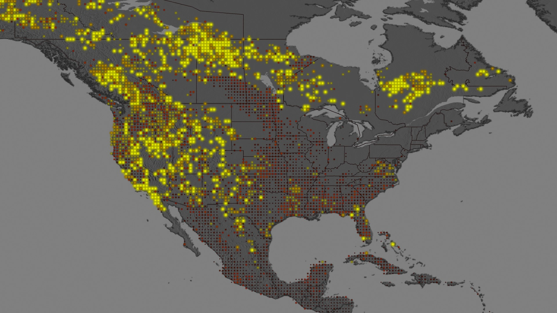 SVS Mapping The Fire Intensity Record For The United States - Map of us fires
