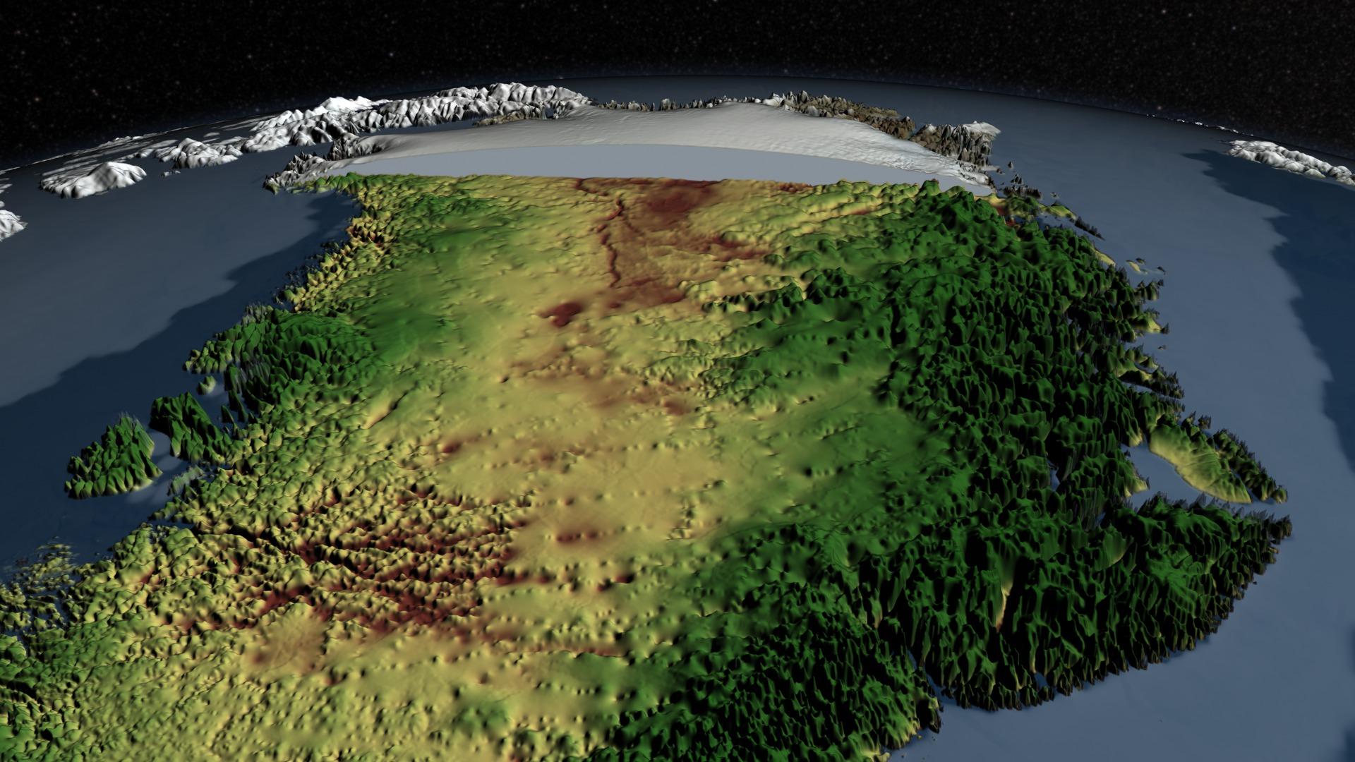 SVS: Greenland\'s Mega-Canyon beneath the Ice Sheet