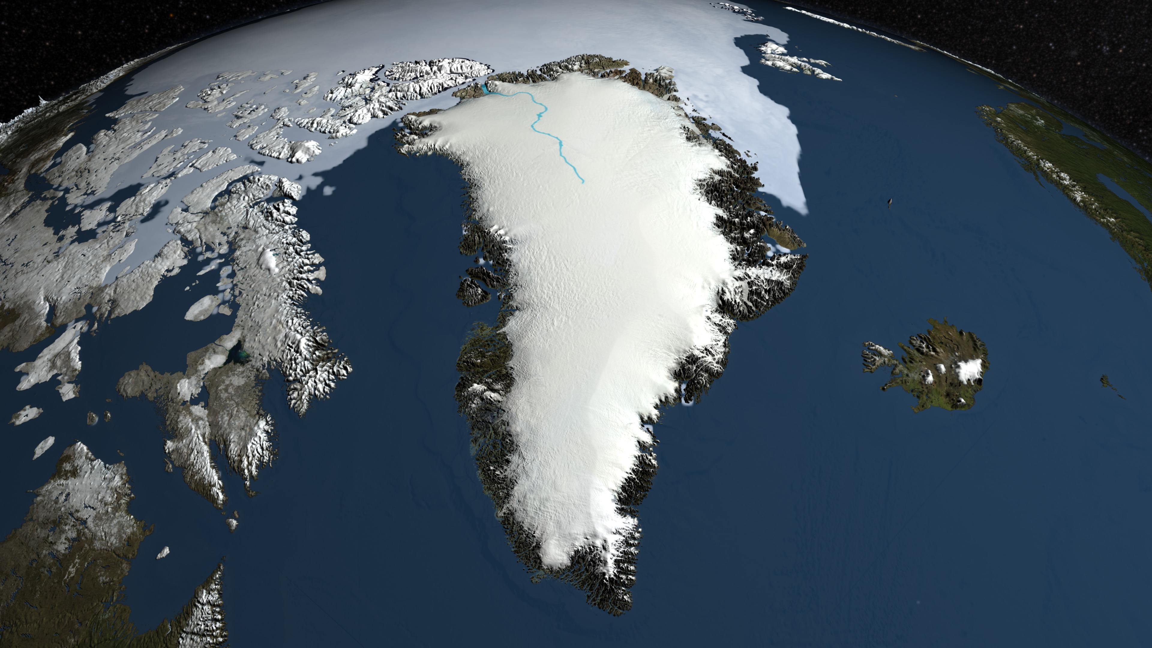 SVS: Greenland\'s Mega-Canyon beneath the Ice Sheet