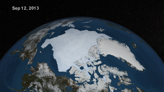 The complete animation of the daily AMSR2 sea ice from May 16 through September 12, 2013.