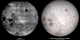 Side by side comparison of the first ever photograph of the lunar far side, from Luna 3, and a visualization of the same view using LRO data. The LRO Moon includes latitude and longitude lines at 15-degree intervals.