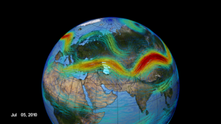 Link to Related Story entitled: The Polar Jet Stream Over Asia, 2010