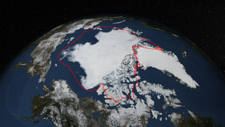 Link to Recent Story entitled: North Polar Sea Ice Minimum, 2014