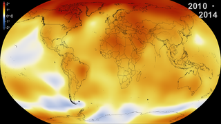 Link to Related Story entitled: Five-Year Global Temperature Anomalies from 1880 to 2014