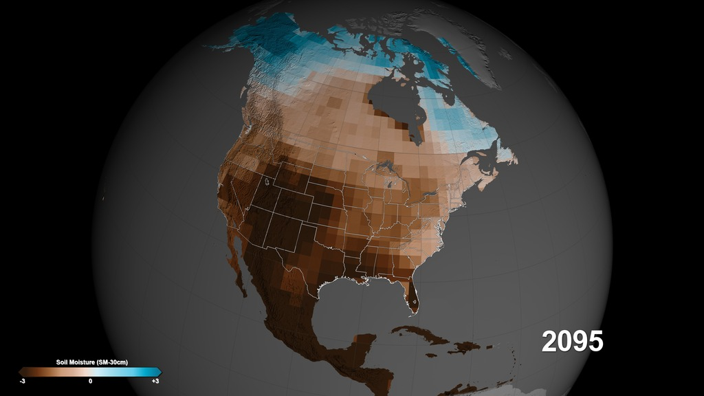 SVS Megadroughts In US West Projected To Be Worst Of The Millennium - Nasa us drought maps