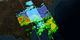Animation depicting a snowstorm over Kentucky, West Virginia, Virginia, and North Carolina.  A slicing plane reveals the inside of the storm, showing where the precipitation switches from rain (yellow, green, and red) to snow and ice (light blue and purple).
