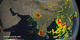 Animation of precipitation rates across India and surrounding countries. Notice the heavy rains throughout the Ghats Mountain range which resulted in devastating landslides along India's west coast.