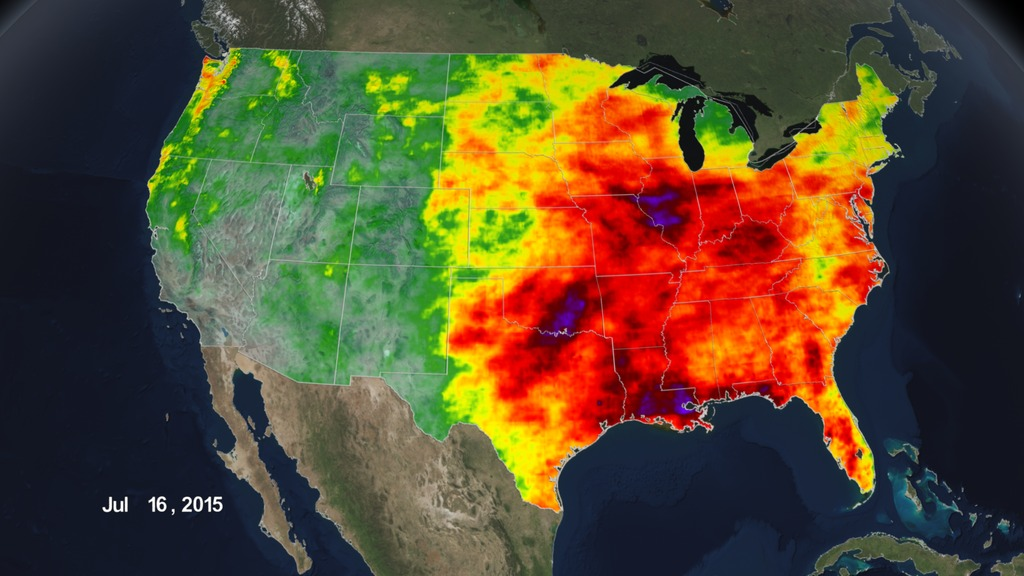 SVS Rainfall Accumulation Across The United States - Nasa us drought maps