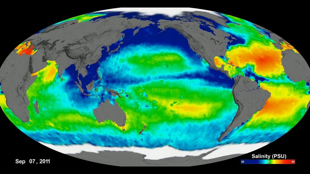 SVS: Aquarius Sea Surface Salinity 2011-2015