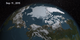 In this animation, the Earth rotates slowly as the Arctic sea ice advances over time from February 25, 2015 to September 11, 2015, when the sea ice reached its annual minimum extent.