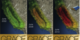 Three of the 12 images used in the GRACE lenticular card, which show the drying out of California's aquifers based on the decreased amount of gravity they exert.