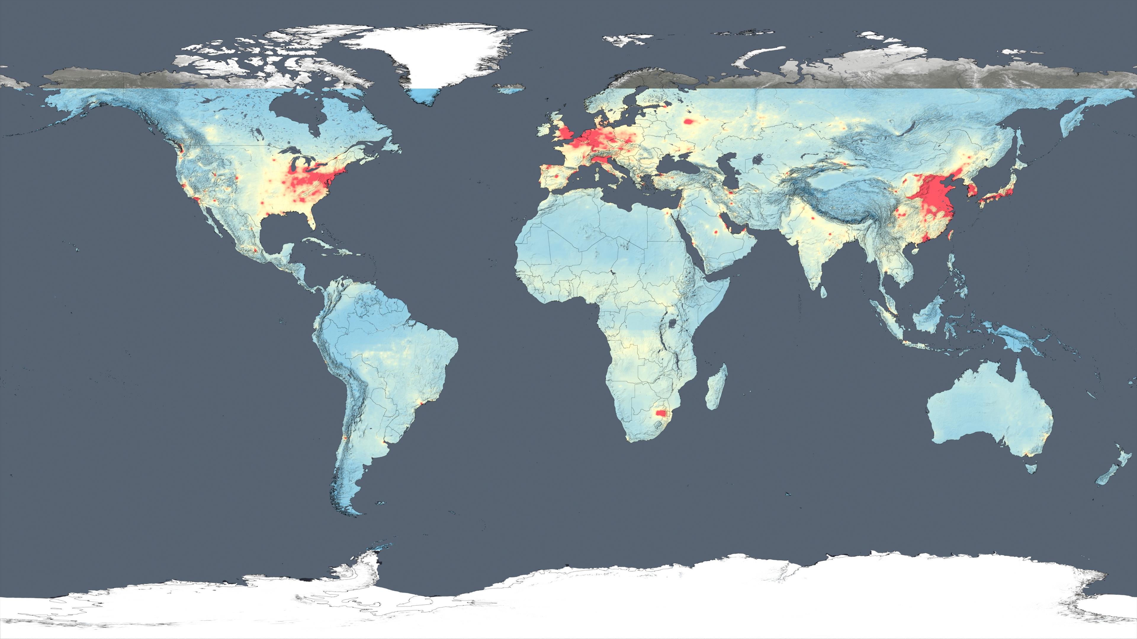 Gms Nasa Images Show Human Fingerprint On Global Air