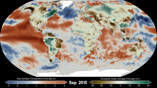 Link to Recent Story entitled: Sea Surface Temperature Anomaly and Terrestrial Water Storage Anomaly Comparison