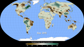 Link to Recent Story entitled: Terrestrial Water Storage Anomaly 2002 - 2015