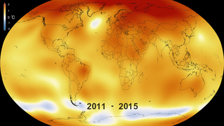 Link to Related Story entitled: Five-Year Global Temperature Anomalies from 1880 to 2015