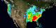 This animation shows the accumulation of rainfall over the United States during December 2015, from the IMERG precipitation dataset.