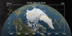 An animation of the annual Arctic sea ice minimum with a graph overlay showing the area of the minimum sea ice in millions of square kilometers.