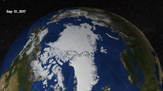 Link to Recent Story entitled: Arctic Sea Ice from March to September 2017