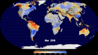 Link to Recent Story entitled: Global Terrestrial Water Storage Anomaly (March 2015 - March 2016)