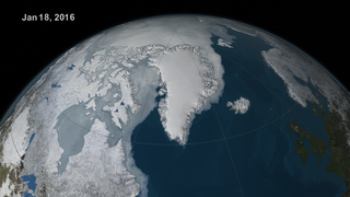 Link to Recent Story entitled: Arctic Sea Ice Extent: January - June 2016