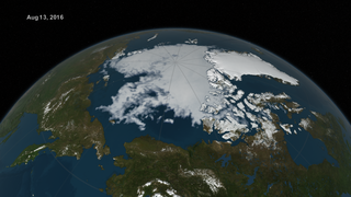Link to Recent Story entitled: Arctic Sea Ice from March to August 2016