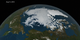 An animation of the Arctic sea ice from March to August 2016