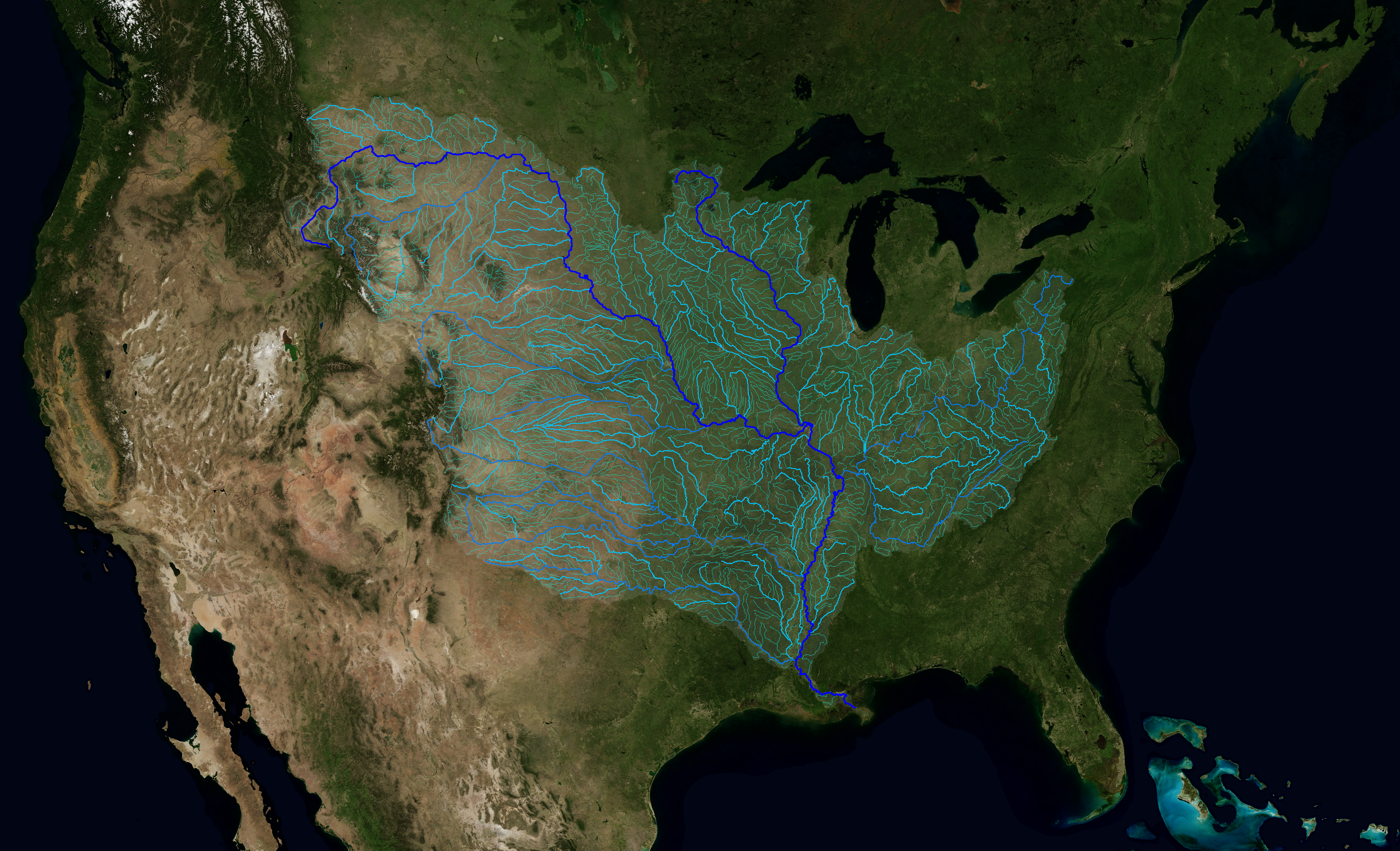 SVS The Rivers Of The Mississippi Watershed - Rivers of