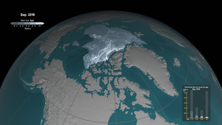 Link to Recent Story entitled: Weekly Animation of Arctic Sea Ice Age with Graph of Ice Age By Area: 1984 - 2016