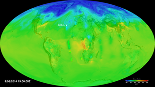 Link to Recent Story entitled: Assimilation of OCO-2 Carbon Dioxide into the GEOS Simulation