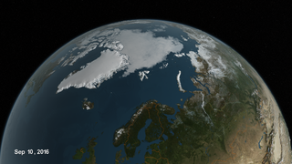Link to Recent Story entitled: Arctic Sea Ice from January 1, 2013 to September 10, 2016