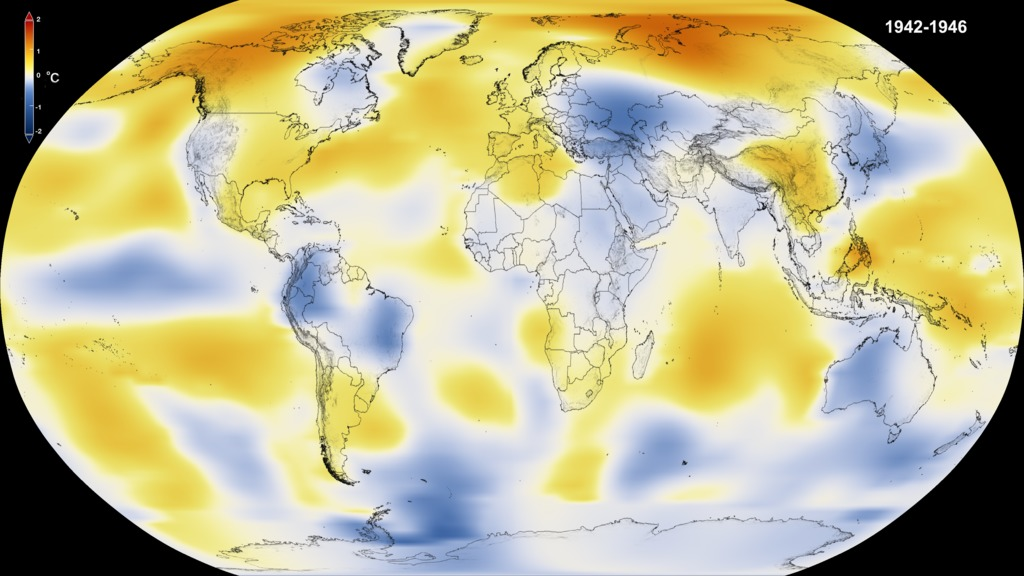 SVS FiveYear Global Temperature Anomalies From To - Us weather map temperature celsius