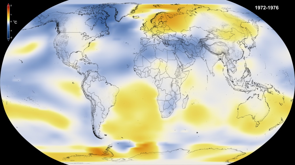 SVS FiveYear Global Temperature Anomalies From To - Us temperature map celsius